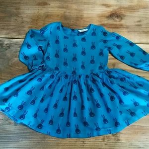 Next Blue and Green Bunny Dress(18M-2T)